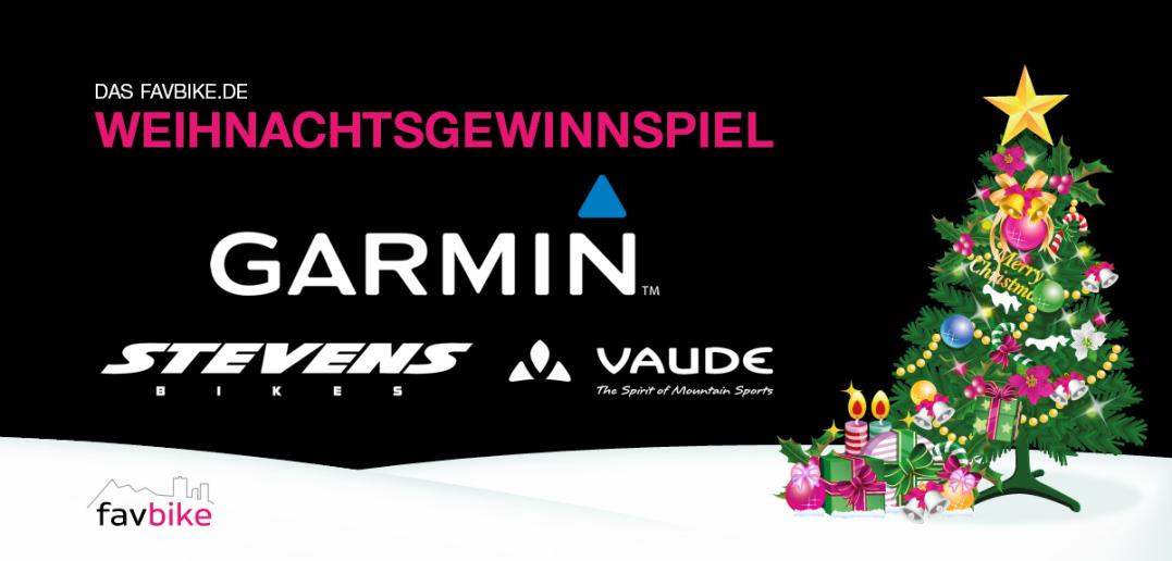 Weihnachtsgewinnspiel: Wir verlosen fette Preise von Garmin, Stevens und Vaude