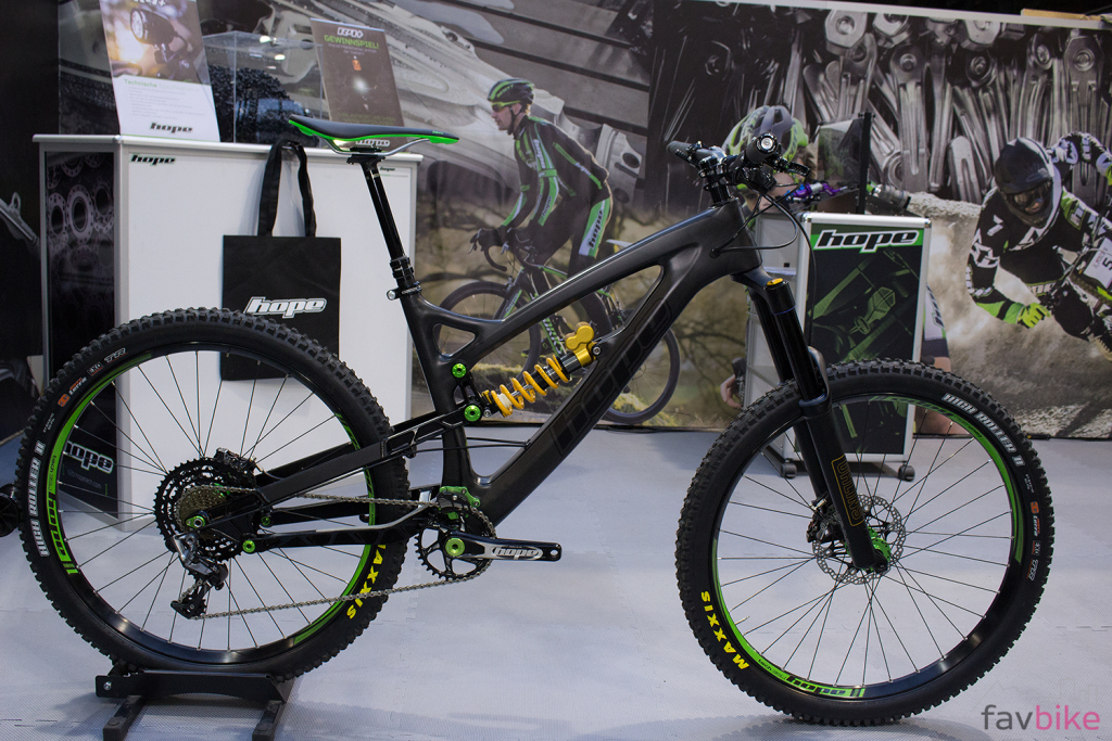 Hope Enduro Prototyp mit Carbon-Lenker und 10-48-Kassette in der neusten Version [BFS 2017]