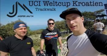 UCI Downhill Worldcup #1 2018 - Veli Losinj: Trackwalk mit Jasper Jauch