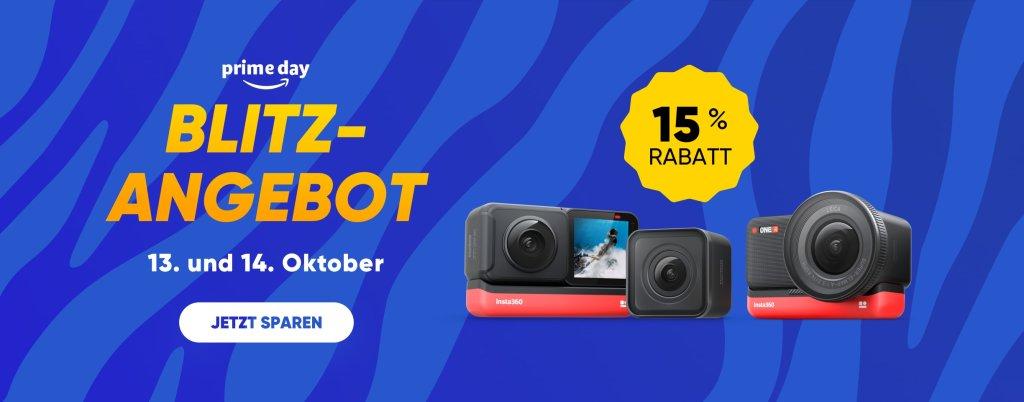Prime Day 2020: Satter Rabatt auf die Insta360 ONE R bei Amazon [Gutschein für kostenlosen Selfie-Stick]