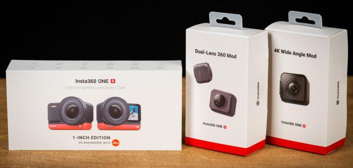 Insta360 ONE R – Action-Cam im Unboxing: 1-Zoll-Mod, 4k-Weitwinkel-Mod & 360-Grad-Mod ausgepackt [VIDEO]